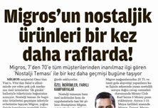 Nostolgic Products of Migros are at the Shelves Once Again!